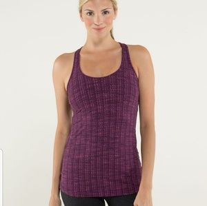 Lululemon Cool Racerback Tank Ziggy Wee August Glo